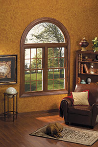 Joyce Windows Double Hung with Radial Transom